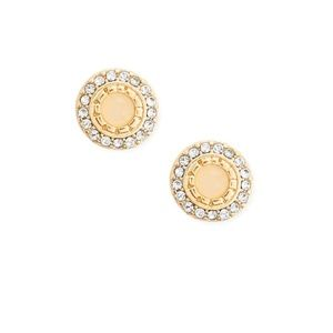 BRAND NEW Faux Stone Halo Stud Earrings